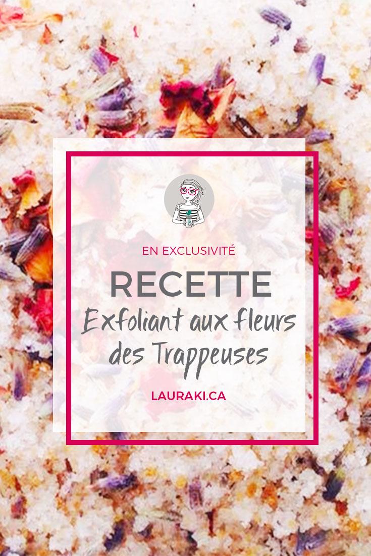 DIY Recette exfoliant corporel aux fleurs #cosmetiques #beaute #zerodechet #zerowaste
