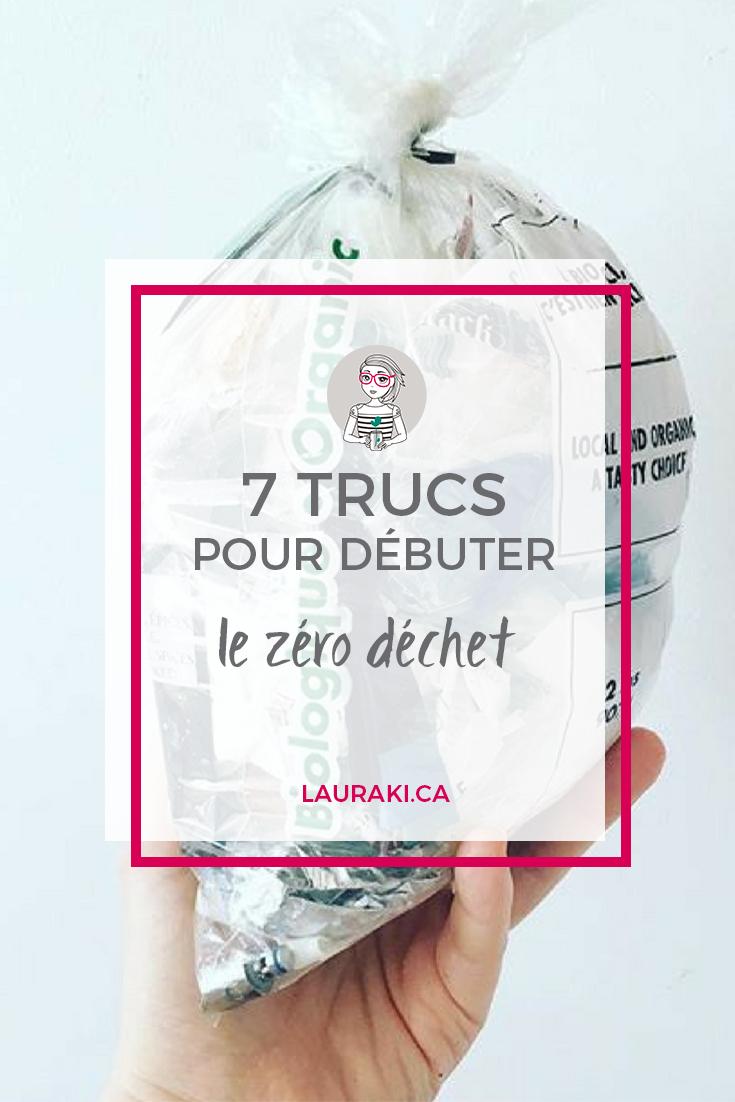 7 trucs pour débuter le zéro déchet