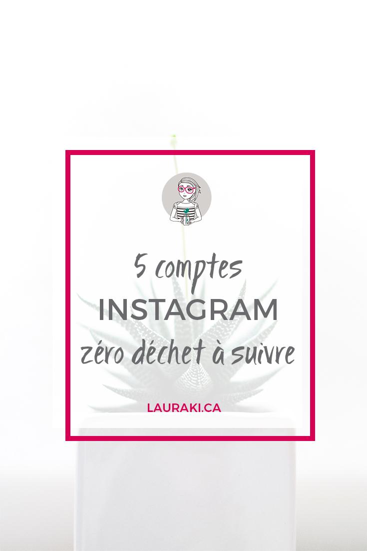 5 comptes Instagram zéro déchet à suivre